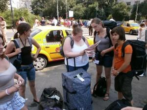 Op zoek naar het hotel,nadat de taxichauffeur ons niet wou brengen